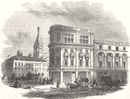 LONDON: New Oxford-Street, antique print, 1847